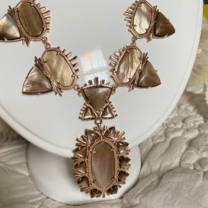 Kendra Scott EUC brown mother of Pearl Havana